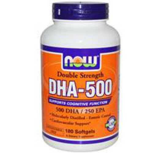 Now Foods DHA-500, Double Strength, 180 Kapseln