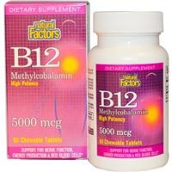 Natural Factors Vitamin B-12 - Methylcobalamin (5.000 mcg)