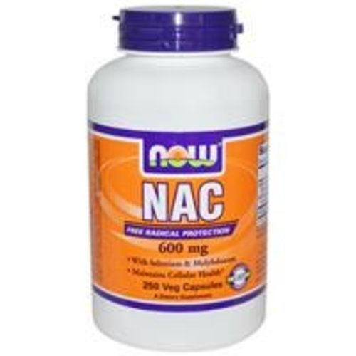Now NAC (N-Acetylcystein), 600 mg, 250 Veggie Kapseln