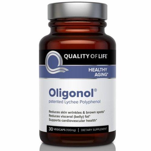 Quality of Life Labs Oligonol (100 mg) - Reduziert Hautfalten und braune Flecken