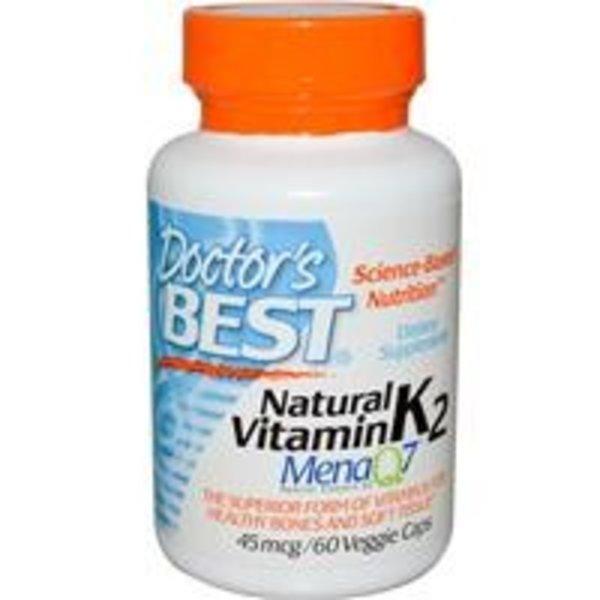 Doctor's Best Natürliches Vitamin K2 MenaQ7, 45 mcg, 60 Veggie Caps (MenaQ7 natürliches Vitamin K2)