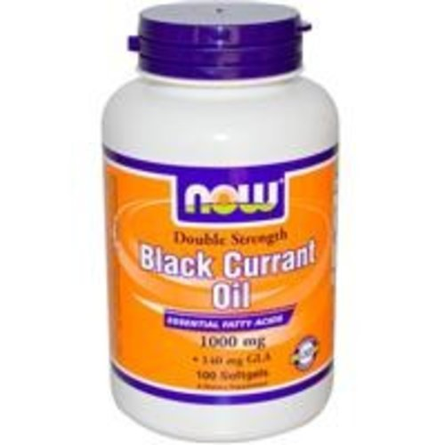 Now Foods Black Currant Oil, Double Strength, 1000 mg, 100 Softgels (Johannisbeersamenöl)