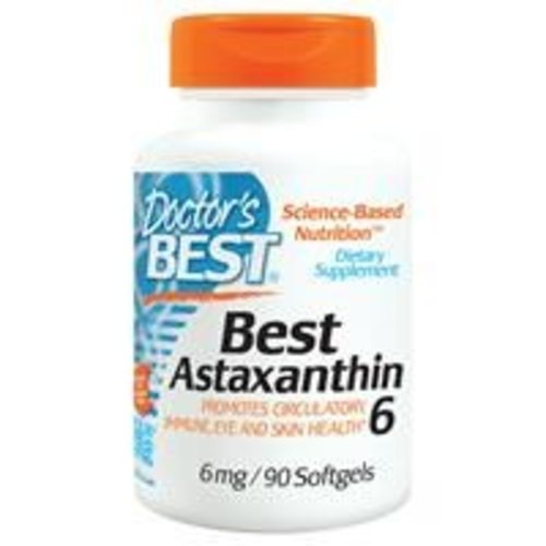Doctor's Best Astaxanthin 6, 6mg, 90 Softgels