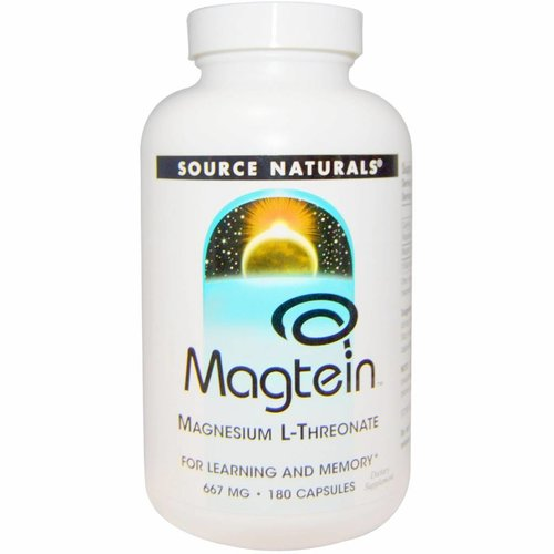 Source Naturals Magtein, Magnesium L-Threonat, 667 mg, 180 Kapseln
