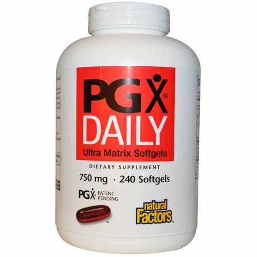 Natural Factors Natural Factors, PGX Daily, Ultra-Matrix Gelkapseln, 750 mg, 240 Kapseln