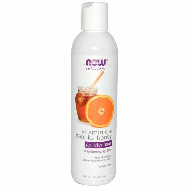 Now Solutions & Essential Oils Vitamin C & Manuka-Honig Gelseife (237 ml) - Fördert gesunde Hautzellen