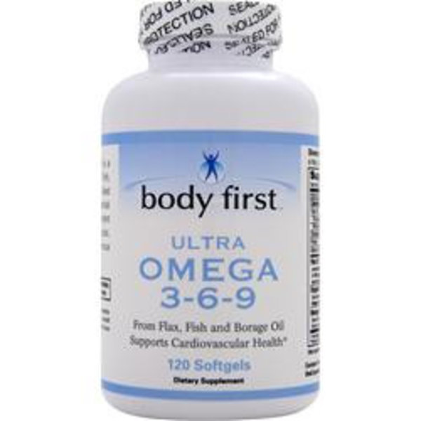 BODY FIRST (AllstarHealth) Ultra Omega 3-6-9 120 Softgels: Konzentrierte Omega-3-Mischung