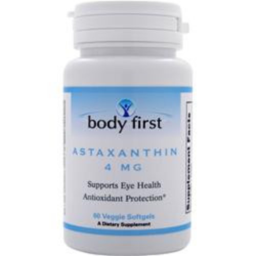 BODY FIRST (AllstarHealth) Astaxanthin (4mg) 60 Softgels (vegetarisch)
