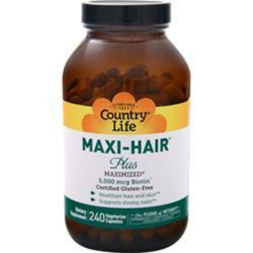 Country Life Maxi-Hair Plus, 5,000 mcg, 240 Vcaps
