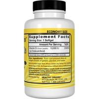Healthy Origins Vitamin D3, 10.000 IE (360 Softgels, XXL Sparpaket) Hochdosiert
