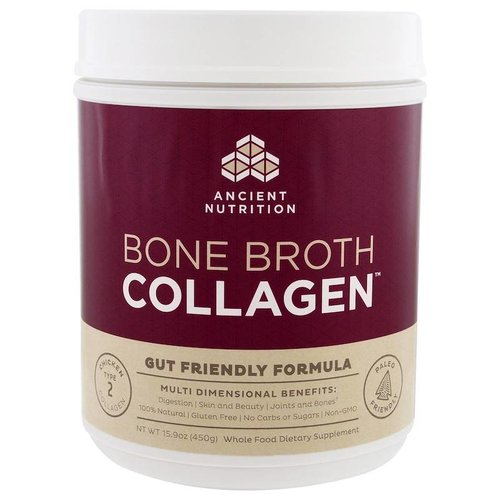 Dr. Axe / Ancient Nutrition Bone Broth Collagen, Pure, 15.9 oz (450 g)