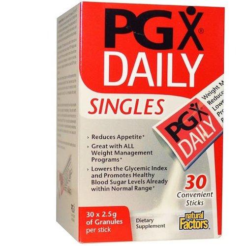Natural Factors PGX Täglich Singles - Reduziert den Appetit