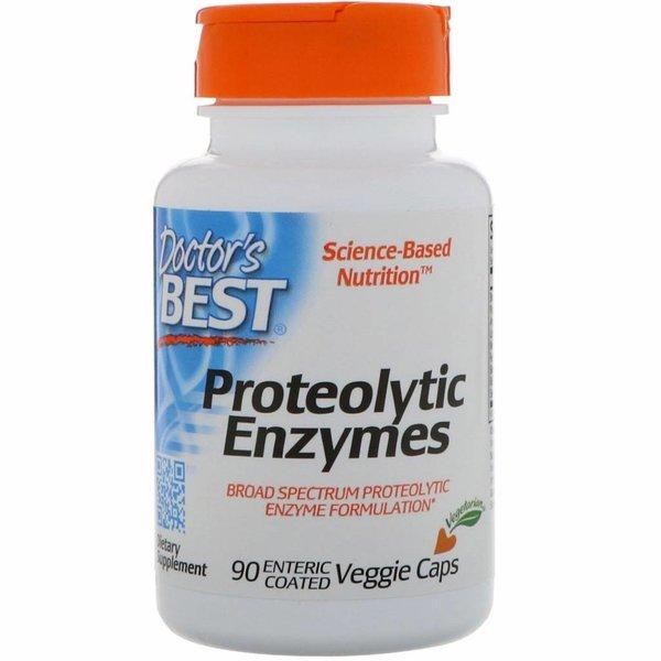 Doctor's Best Proteolytische Enzyme (90 magensaftresistente Vegiecaps) - Breitspektrumformel