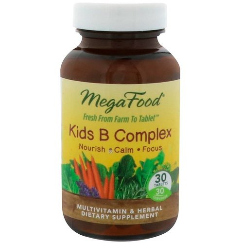 Mega Food Kids B Complex, 30 Tabletten