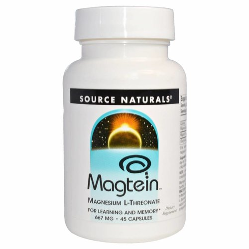 Source Naturals Magtein, Magnesium L-Threonate, 667 mg, 45 Kapseln