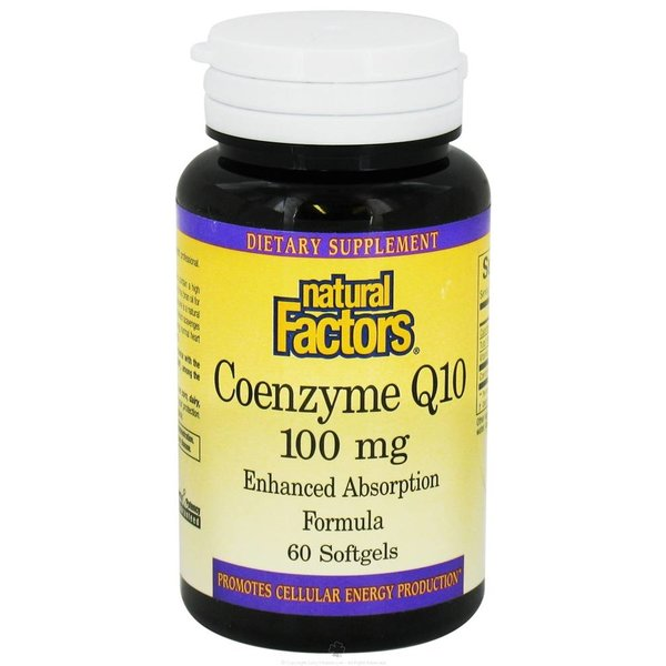 Natural Factors Coenzym Q10 mit hoher Absorption (100 mg)