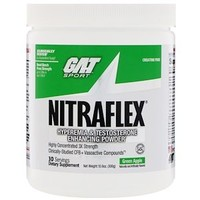 GAT Nitraflex, Grüner Apfel, 300 g: Pulver zur Verbesserung von Hyperämie und Testosteronspiegel