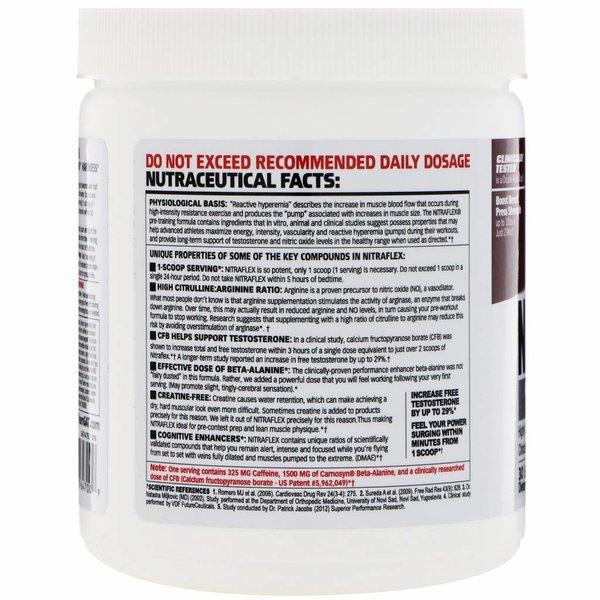 GAT Nitraflex, Schwarzkirsche, 300 g: Pulver zur Verbesserung von Hyperämie und Testosteronspiegel