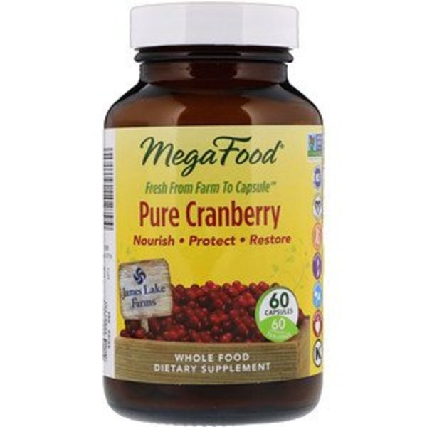 Mega Food Reine Cranberry, 60 Kapseln: unterstützt Immun- und Harnweggesundheit