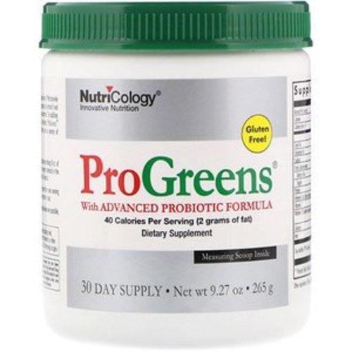 Nutricology Nutricology, ProGreens, mit hochentwickelter probiotischer Formel, 265 g
