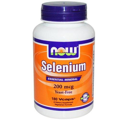 Now Foods Selen, lebensnotwendiger Mineralstoff, 200 mcg, 180 Vcaps (Selenium)