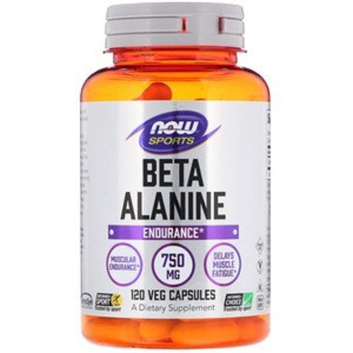 Now Foods Beta-Alanin, 750 mg, 120 Kapseln