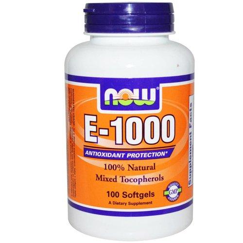Now Vitamin E-1000, 100 Kapseln