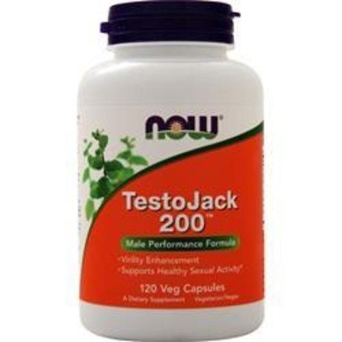 Now Foods TestoJack 200, 120 Veggie-Kapseln