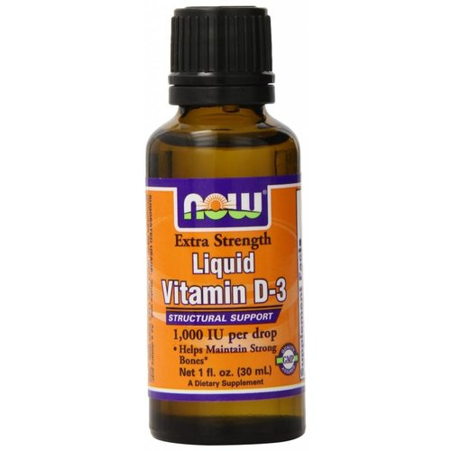 Now Foods Extra starkes, flüssiges Vitamin D-3 (1.000 IE)