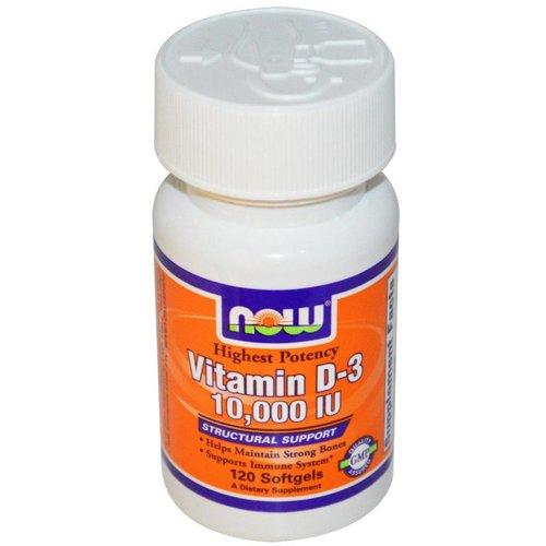 Now Vitamin D-3 10.000 IU : Höchste Konzentration D3, 120 Softgels
