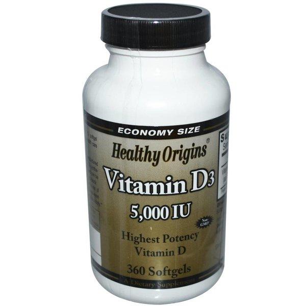 Healthy Origins Vitamin D-3 (5.000 IE)