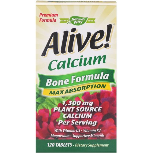 Nature's Way Alive! Calcium - Knochen-Formel (1.000/1.300 mg)
