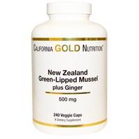 California Gold Nutrition Neuseeländische Grünlippmuschel mit Ingwer (500 mg)