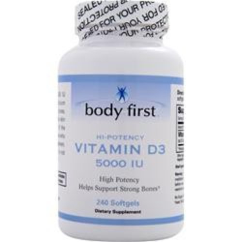BODY FIRST (AllstarHealth) Vitamin D3 (5000IU) 240 Softgels