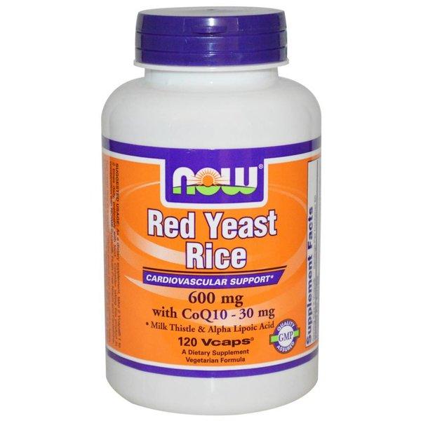 Now NEU: Roter Reis (RED YEAST RICE) , mit CoQ10 - 30 mg, 600 mg, 120 Vcaps: für Herz, Kreislauf, Leber und antioxidative Unterstützung.