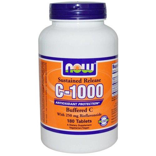 Now Vitamin C-1000 Komplex, Buffered C mit verzögerter Freisetzung, 180 Tabletten