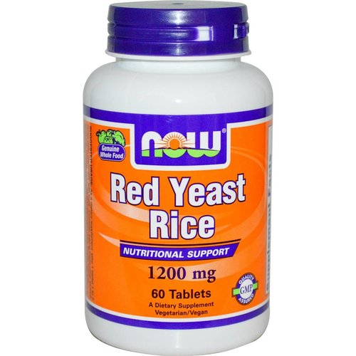 Now Roter Reis: (Red Yeast Rice) (1200mg) 60 Tabletten