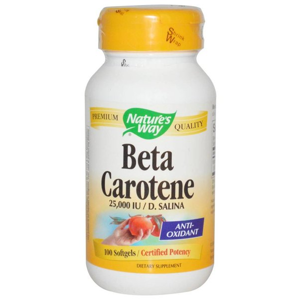 Nature's Way Nature's Way, Beta Carotene, 25,000 IU / D. Salina, 100 Softgels: Antioxidationsmittel (Vitamin A)