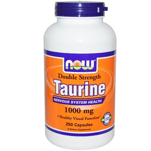 Now Taurin, Double Strength, 1000 mg, 250 Kapseln (Taurine)