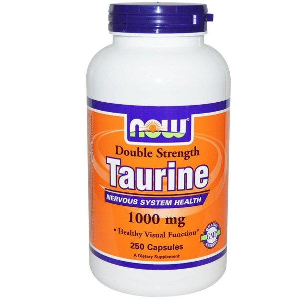 Now Taurin, Double Strength, 1000 mg, 250 Kapseln: Für ein gesundes Nervensystem