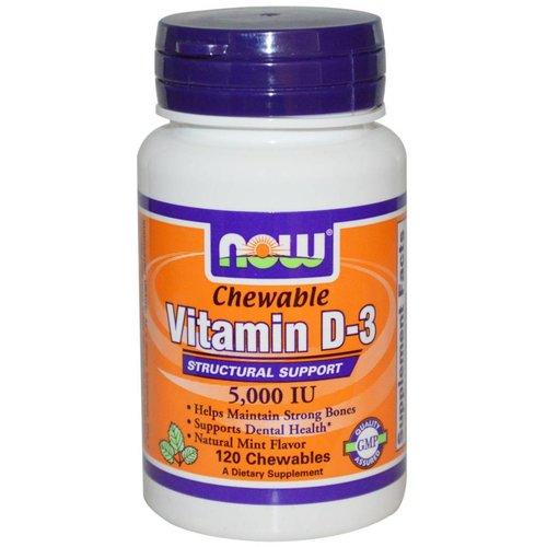 Now Foods Vitamin D-3 5.000 IE - 120 Chewables: Kautabletten