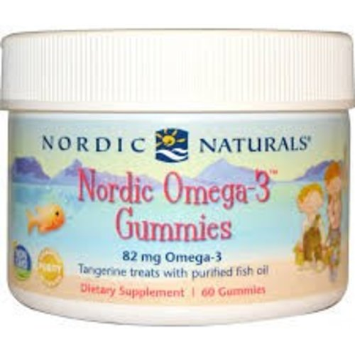 Nordic Naturals Nordic Omega-3 Gummibärchen, Manderine, 60 Stück