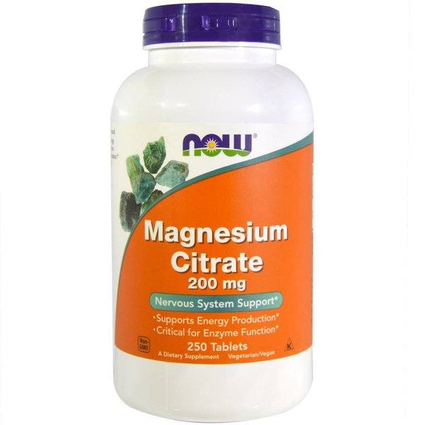 Now Magnesiumzitrat (Citrate) (200 mg)
