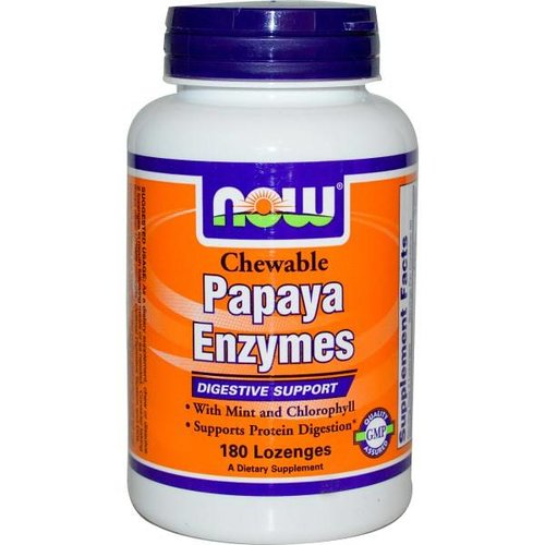 Now Foods Papaya Enzyme, 180 Lutschtabletten
