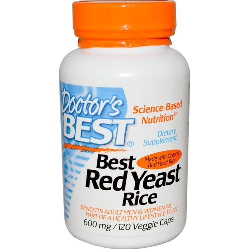 Doctor's Best Best Red Yeast Rice, 600 mg, 120 Veggie Kapseln