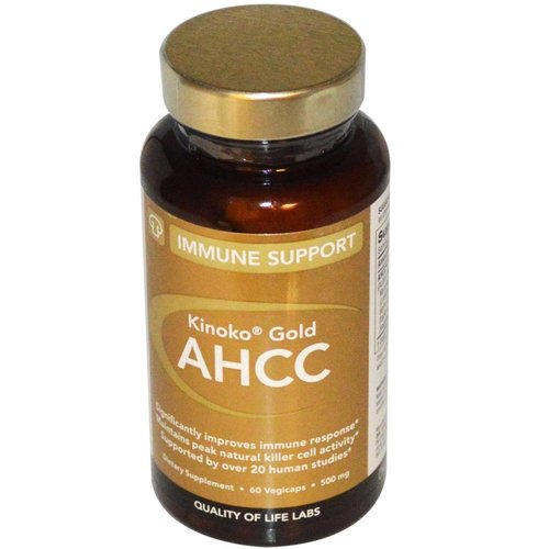 Quality of Life Labs Kinoko Gold AHCC, 500 mg (60 Vegicaps)