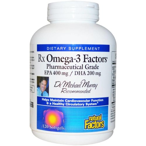 Natural Factors Natural Factors, Rx Omega-3 Factors, 120 Kapseln (EPA 400 mg / DHA 200 mg)