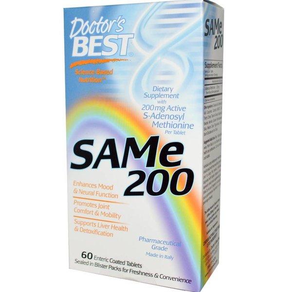 Doctor's Best SAM-E 200, 60 magensaftresistente Tabletten