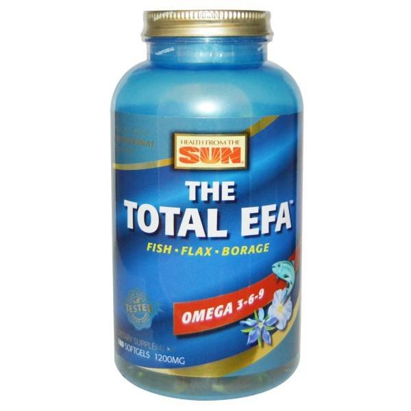 Health From The Sun Total EFA, Omega 3-6-9, 180 Softgels: Ganzkörper-Ernährungs-Unterstützung