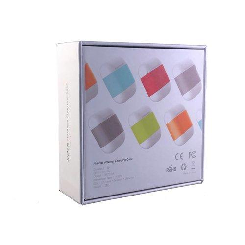 Merkloos AirPods Qi Case (Rood) - Apple AirPods Draadloos Opladen